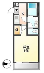 クレイビア熱田[1階]の間取り