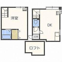 北海道札幌市豊平区月寒東一条3丁目の賃貸アパートの間取り