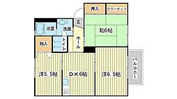 兵庫県姫路市白浜町宇佐崎北3丁目の賃貸アパートの間取り
