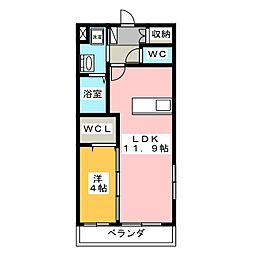 AMUSE[2階]の間取り