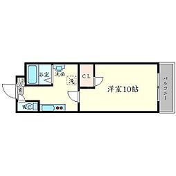 学生会館 Grand E'terna大阪[1階]の間取り
