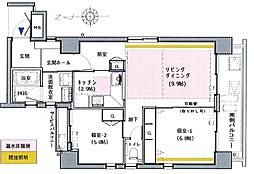 住真田山イースト[4階]の間取り