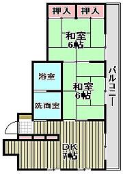 ランコントル堺町[402号室]の間取り