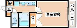 アステヒル神戸[2050号室]の間取り