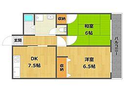 メゾン三宅2[3階]の間取り