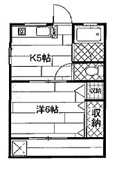 コーポ旭ヶ丘[2階]の間取り