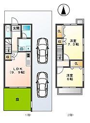 愛知県名古屋市南区弥生町の賃貸アパートの間取り