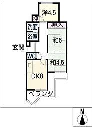 アルカディアI[1階]の間取り