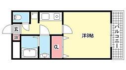 ドール魚崎[407号室]の間取り
