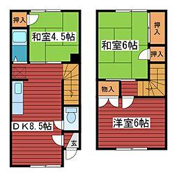 [テラスハウス] 北海道札幌市豊平区月寒西一条3丁目 の賃貸【北海道 / 札幌市豊平区】の間取り