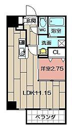 スタディ戸畑[11階]の間取り
