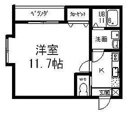 GEO関屋堀割[202号室]の間取り