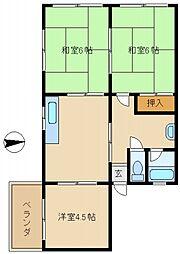 南海マンション[3階]の間取り