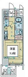 Osaka Metro千日前線 阿波座駅 徒歩8分の賃貸マンション 2階1Kの間取り