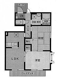 アヴェニール21 B棟[101号室]の間取り