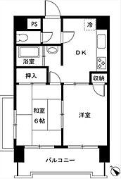 東京都目黒区目黒3丁目の賃貸マンションの間取り