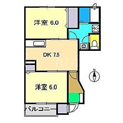 メゾングローリア[1階]の間取り