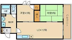 長井マンション[306号室]の間取り