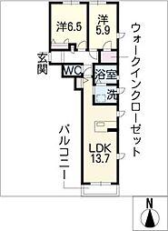 PRONUBE HOUCHI[2階]の間取り