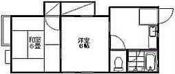 新潟県新潟市東区新石山4丁目の賃貸アパートの間取り