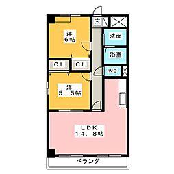 楓[3階]の間取り