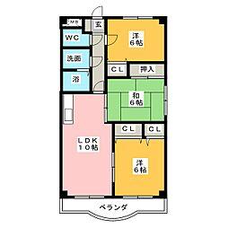 三日市TSガーデンアベニュー[2階]の間取り