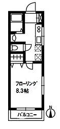 ハイツフレンド力丸III[1C号室号室]の間取り