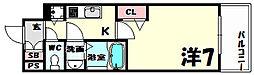 プレサンス三宮ポルト[3階]の間取り