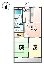 アコード上田[2階]の間取り