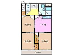 ラルーシア高茶屋[5階]の間取り
