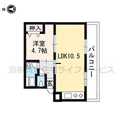 水戸田マンションB棟[408号室]の間取り
