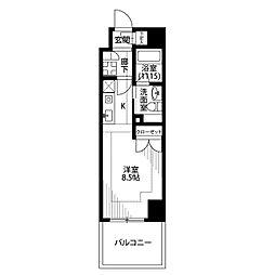 プレール・ドゥーク横浜SOUTH Maison Loir[705号室]の間取り