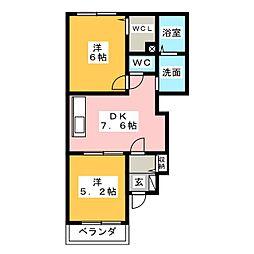 アイファイン E[1階]の間取り