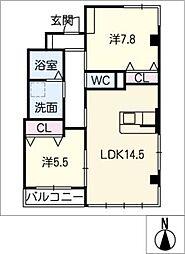 ユーハウス12[2階]の間取り