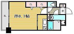 ラファセベルシード博多[8階]の間取り