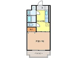 静岡県富士宮市神田川町の賃貸マンションの間取り