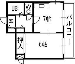 札幌JOW2ビル[1101号室]の間取り