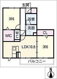 仮)常滑市飛香台PJ 1街区[2階]の間取り
