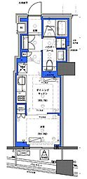 都営新宿線 小川町駅 徒歩30分の賃貸マンション 6階1DKの間取り