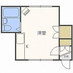 シティハイム南郷B棟[2階]の間取り