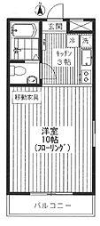 東京都板橋区赤塚新町1丁目の賃貸アパートの間取り