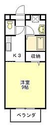 SALIDA・DEL・SOL[1階]の間取り
