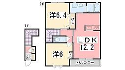 加古川ハイツ峰[203号室]の間取り