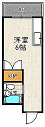 プレアール伏見深草Ⅱ[403号室]の間取り