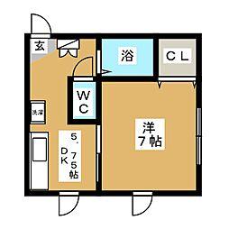 ハイツサンA[2階]の間取り
