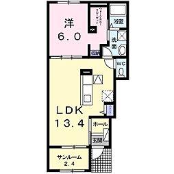 Heart House II[1階]の間取り