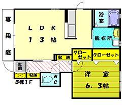 パンセレイノンB[2階]の間取り