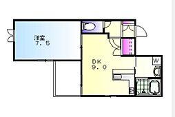ドリームホープハウス[303号室]の間取り