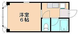 ビバリーハウス南福岡Ⅲ[2階]の間取り