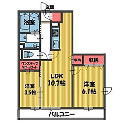 シャルマン元町[301号室]の間取り